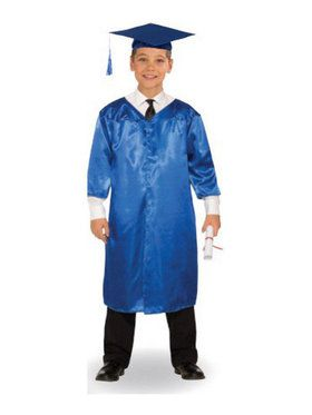 Blue Graduation Child Robe - One-Size