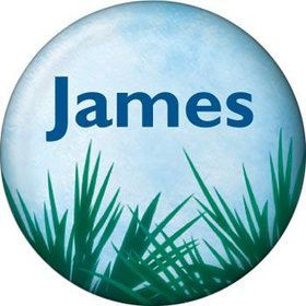 Blue Planet Personalized Mini Button (each)
