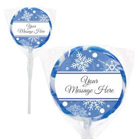 "Blue Snowflake Personalized 2"" Lollipops (20 Pack)"