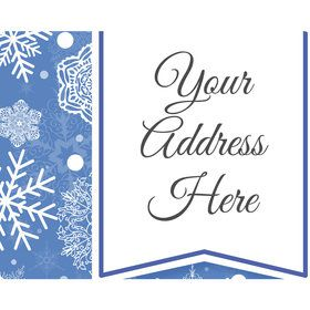 Blue Snowflake Personalized Address Labels (Sheet of 15)
