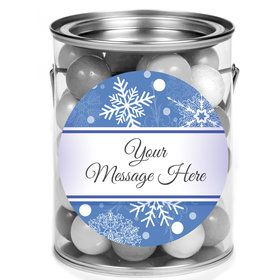 Blue Snowflake Personalized Mini Paint Cans (12 Count)