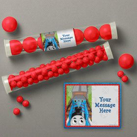 Blue Tank Engine Personalized Candy Tubes (12 Count)
