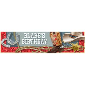 Blue Western Personalized Banner (Each)