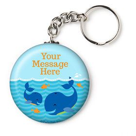 "Blue Whale Personalized 2.25"" Key Chain (Each)"