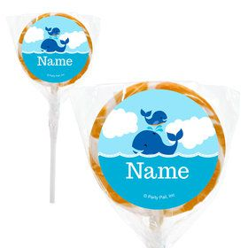 "Blue Whale Personalized 2"" Lollipops (20 Pack)"