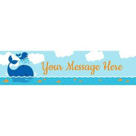 Blue Whale Personalized Banner (Each)