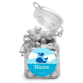 Blue Whale Personalized Glass Apothecary Jars (12 Count)