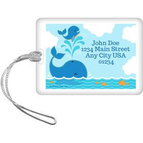Blue Whale Personalized Luggage Tag (Each)