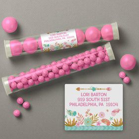 Boho Birthday Girl Personalized Candy Tubes (12 Count)