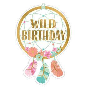 Boho Birthday Postcard Invitation Girl (8)