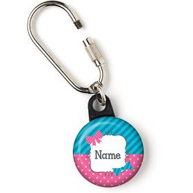 "Bow or Bowtie Gender Reveal Personalized 1"" Carabiner (Each)"