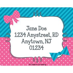 Bow or Bowtie Gender Reveal Personalized Address Labels (Sheet of 15)