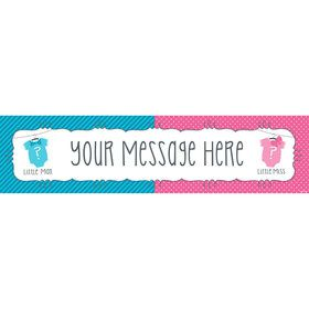 Bow or Bowtie Gender Reveal Personalized Banner (Each)