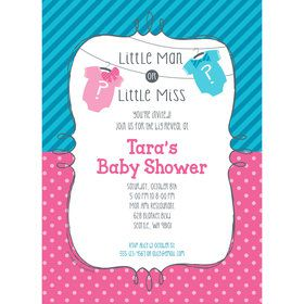 Bow or Bowtie Gender Reveal Personalized Invitation (Each)