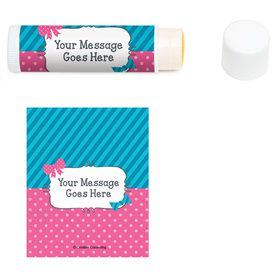 Bow or Bowtie Gender Reveal Personalized Lip Balm (12 Pack)