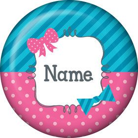 Bow or Bowtie Gender Reveal Personalized Mini Magnet (Each)