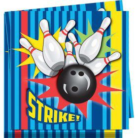 Bowling Lunch Napkins (16 Pack)