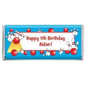 Bowling Personalized Candy Bar Wrapper (Each)