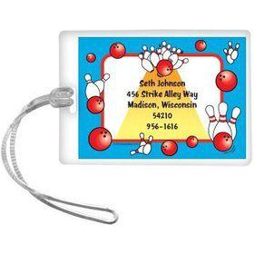 Bowling Personalized Luggage Tag (each)