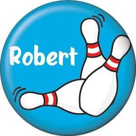 Bowling Personalized Mini Button (each)