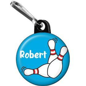Bowling Personalized Mini Zipper Pull (each)