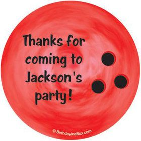 Bowling Personalized Stickers (sheet of 12)