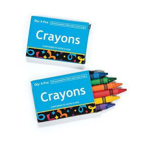 Box of Crayons (6 Crayons In A Box)