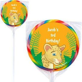 Boy Explorer Personalized Lollipops (pack of 12)