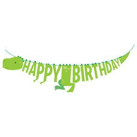 Boys Dino-Roar Birthday Banner