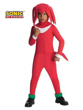 Boys Knuckles Sonic The Hedgehog Costum