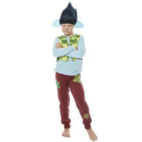 Branch Boy's Trolls World Tour Shirt and Pants Costume