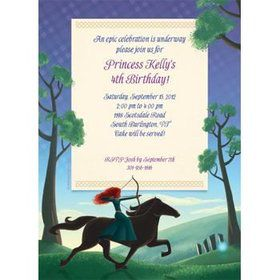 Brave Princess Personalized Invitation (each)