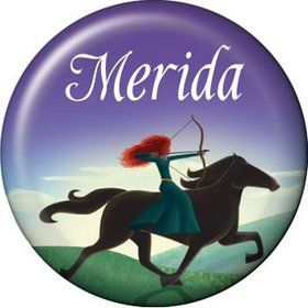 Brave Princess Personalized Mini Button (each)
