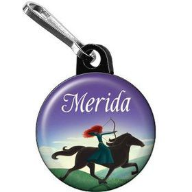 Brave Princess Personalized Mini Zipper Pull (each)