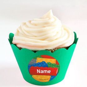 Bric Tek Personalized Cupcake Wrappers (Set of 24)