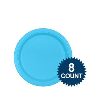 "Bright Blue 7"" Paper Plate, 8ct."