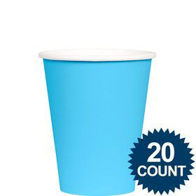 Bright Blue 9 oz. Paper Cups, 20 ct.