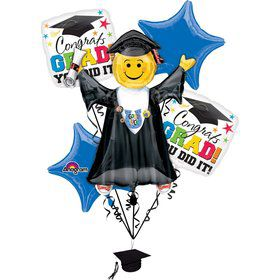Bright Grad You Did It Balloon Bouquet (Each)