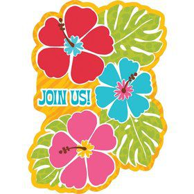 Bright Hibiscus Value Invitation Pack (20 Count)