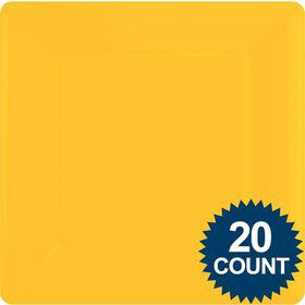 "Bright Yellow 10"" Square Paper Plates, 20 ct."