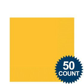 Bright Yellow 2-Ply Beverage Napkins, 50ct.