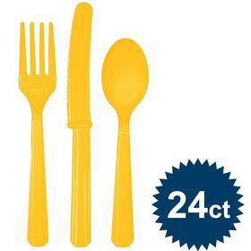 Bright Yellow Cutlery Set