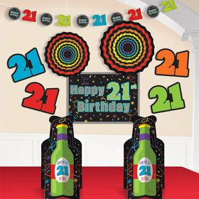 Brilliant 21st Birthday Room Decorating Kit