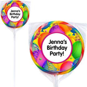 Brilliant Balloons Lollipops (Pack Of 12)