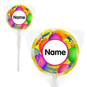 "Brilliant Balloons Personalized 2"" Lollipops (20 Pack)"