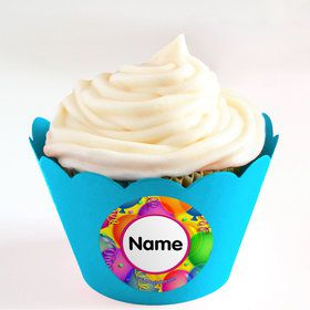 Brilliant Balloons Personalized Cupcake Wrappers (Set of 24)