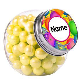 Brilliant Balloons Personalized Plain Glass Jars (12 Count)