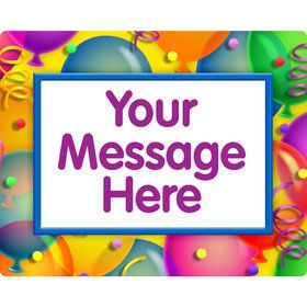 Brilliant Balloons Personalized Rectangular Stickers (Sheet of 15)