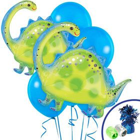 Brontosaurus Shaped Jumbo Balloon Bouquet