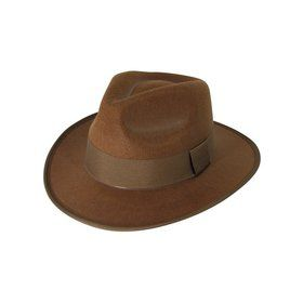 Brown Fedora Adult Hat